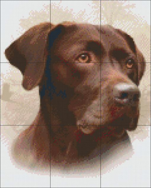 Pixelcraft Pixelhobby patroon bruine labrador Howard Robinson