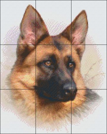 Pixelcraft Pixelhobby patroon duitse herder Howard Robinson