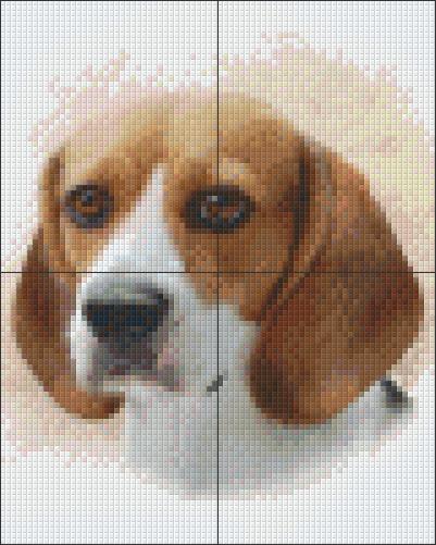 Pixelcraft Pixelhobby patroon Beagle Howard Robinson