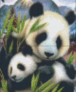 Pixelcraft Pixelhobby patroon Panda cub Howard Robinson