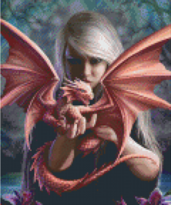 Pixelhobby patroon, Pixel craft patroon Anne Stokes