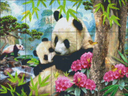 Pixelcraft Pixelhobby patroon Morning Panda Howard Robinson