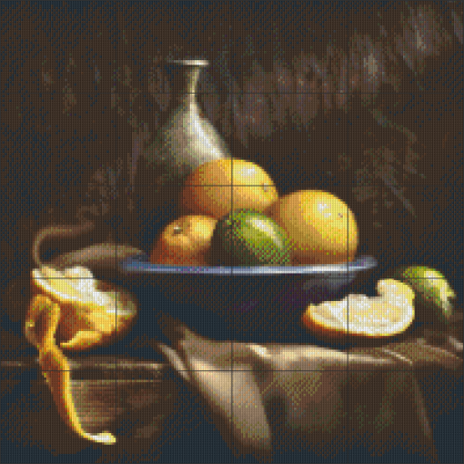 Pixelhobby patroon, Pixel craft patroon Still life oranges Harold Ross