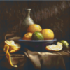 Pixelhobby patroon, Pixel craft patroon Still life oranges Harold Ross
