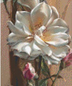 Pixelhobby patroon Rose of Toblach Pixel craft patroon Vie Dunn-Harr
