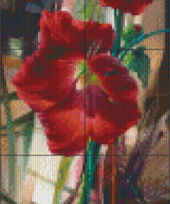 Pixelhobby patroon Crimson and Coy Pixel craft patroon Vie Dunn-Harr