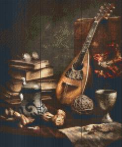 Pixelhobby patroon, Pixel craft patroon Still life mandoline Harold Ross