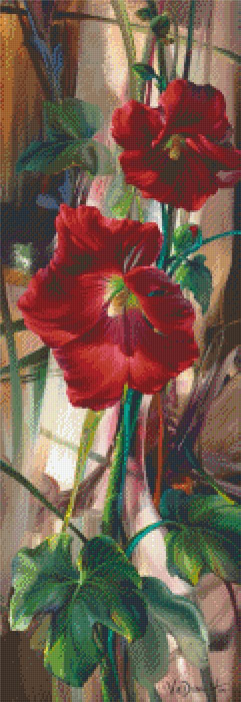 Pixelhobby patroon Crimson and coy Pixel craft patroon Vie Dunn-Harr