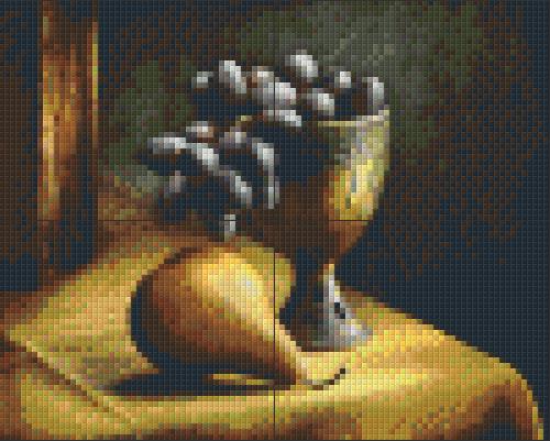 Pixelhobby patroon, Pixel craft patroon Still Life with grapes Harold Ross