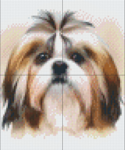 pixel craft patroon Shih Tzu Howard Robinson