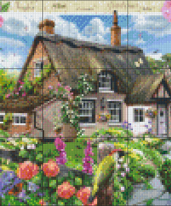 Pixelhobby patroon, Pixel craft patroon Fox glove Cottage Howard Robinson