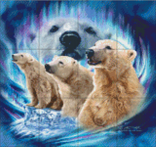 Pixelhobby patroon, Pixel craft patroon Polar Bears Michael Gardner