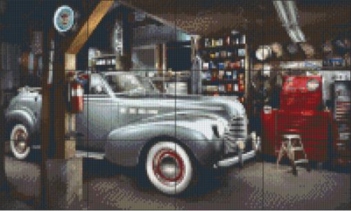 Pixelhobby patroon, Pixel craft patroon Last change garage Harold Ross