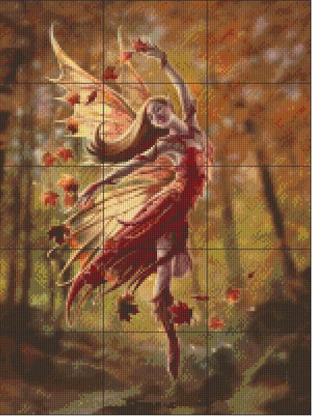 Pixelhobby patroon, Pixel craft patroon Anne Stokes