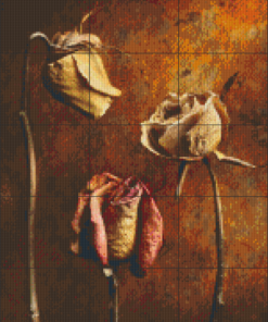 Pixelhobby patroon, Pixel craft patroon Roses Harold Ross