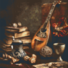 Pixelhobby patroon, Pixel craft patroon Still life mandoline Harold Ross