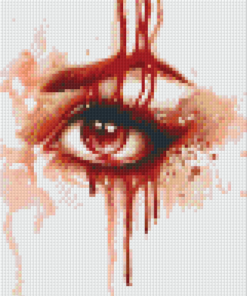 Pixelhobby patroon, Pixel craft patroon Red Rain by Sarah Richter