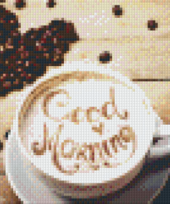Pixelhobby patroon, Pixel craft patroon Goodmorning