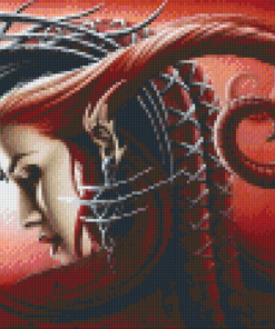 Pixelhobby patroon, Pixel craft patroon Queen Evil by Sarah Richter