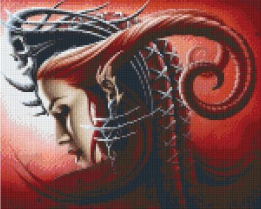 Pixelhobby patroon, Pixel craft patroon Queen Evil by Sarah Richter