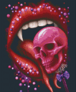 Pixelhobby patroon, Pixel craft patroon Deadly Sweet Black by Sarah Richter