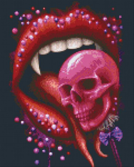 Pixelhobby patroon, Pixel craft patroon Deadly Sweet Black by Sarah Richter