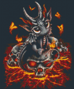 Pixelhobby patroon, Pixel craft patroon Desscendant of the Volcano by Sarah Richter