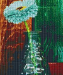 Pixelhobby patroon, Pixel craft patroon 3 luik bloem in vaas