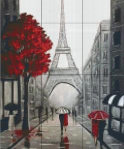 Pixelhobby patroon, Pixel craft patroon Eifel streets