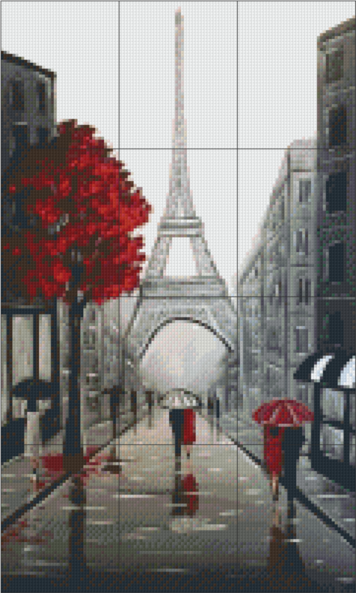 Pixelhobby patroon, Pixel craft patroon Eifel streets