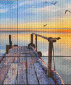 Pixelhobby patroon, Pixel craft patroon Zon's ondergang
