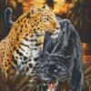 Pixelhobby patroon, Pixel craft patroon Two jaguars Dimitar Neshew