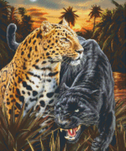 Pixelhobby patroon, Pixel craft patroon Two jaguars Dimitar Neshew